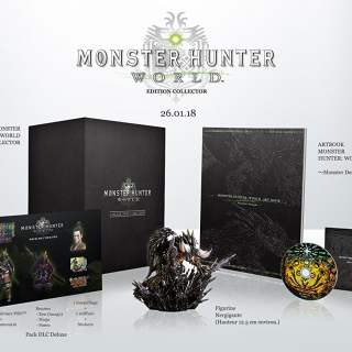 L'édition collector de Monster Hunter World sur PS4 (France)