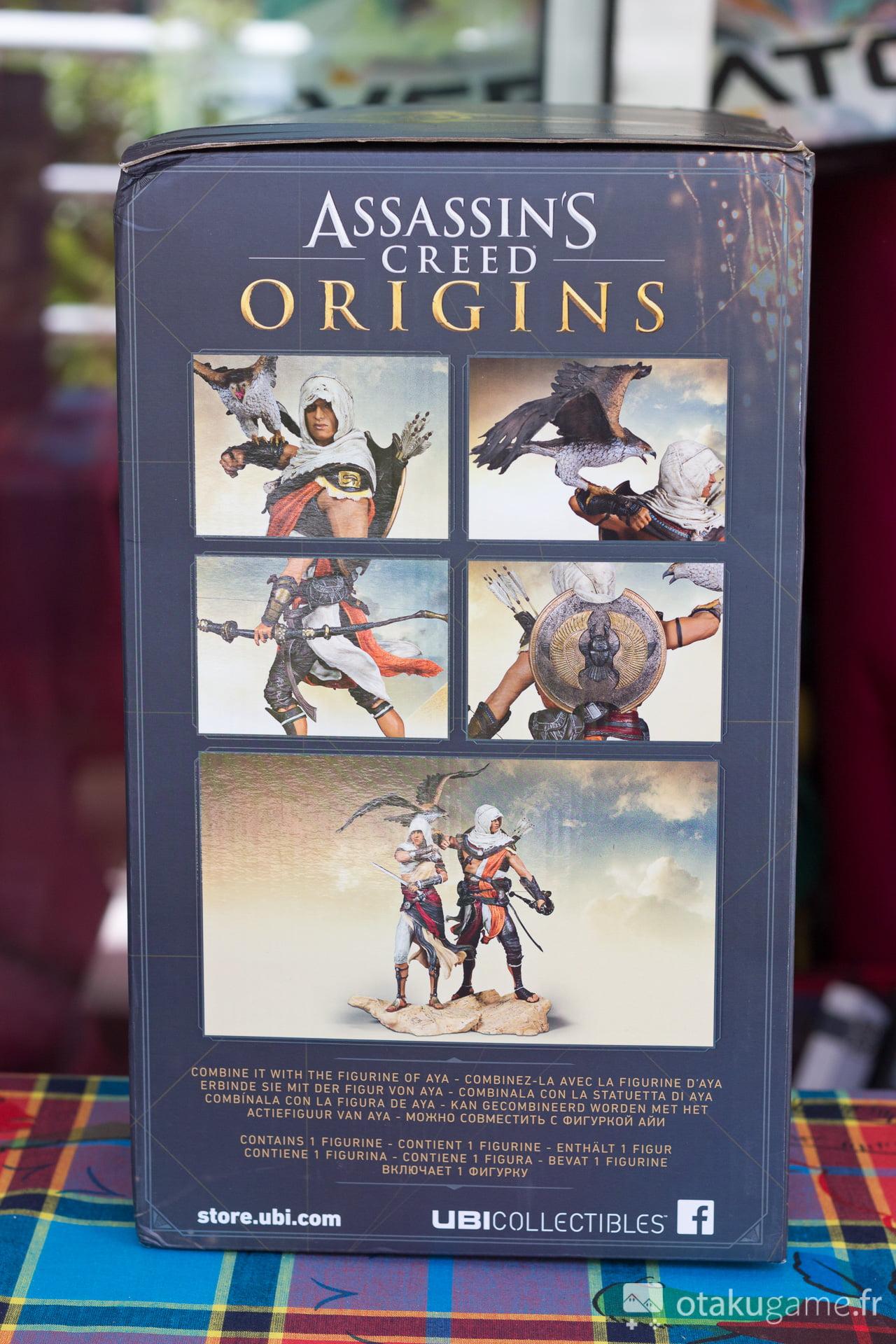 Boîte de la figurine de Bayek d'Asssassin's Creed Origins