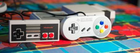 Manettes SNES et NES Mini