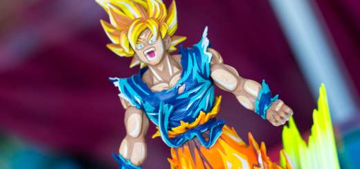 La figurine de de Dragon Ball FighterZ est un régal à photographier !