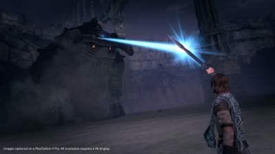 Notre épée nous permet de nous diriger et de trouver les points faibles des titans...