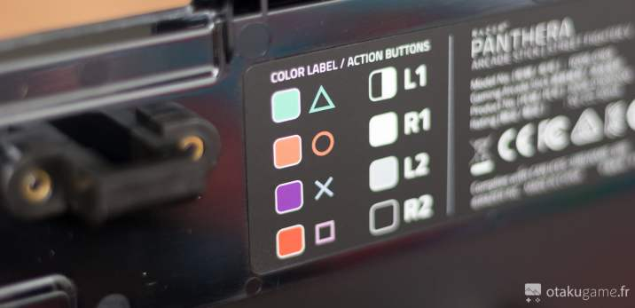 Descriptif des boutons du Stick Arcade Razer Panthera édition Street Fighter V