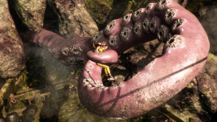 Une femme et des tentacules. On m'a dit que je devrais exploser mon nombre de vue avec ce cliché !