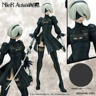 La magnifique figurine de 2B Nier Automata dans son édition classique.