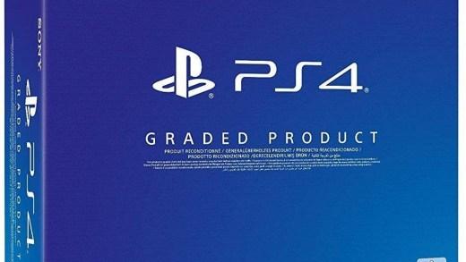 Les boîtes des PS4 reconditionnées sont légèrement différentes.