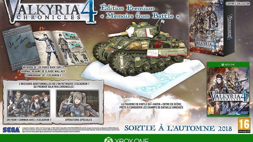 L'édition collector de Valkyria sur Xbox One !