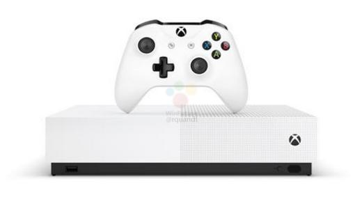 Et voici la Xbox One S All Digital, sans lecteur de disque !