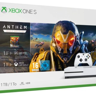 La Xbox One S 1To + 3 abonnements (EA Access, Xbox Game Pass et Xbox Live Gold) + Anthem à moins de 180€ !