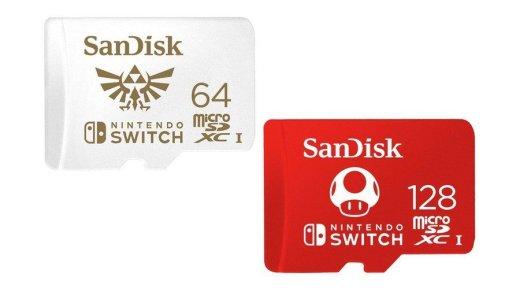 Elles sont belles ces cartes SD spéciale Nintendo Switch !