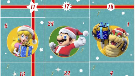 Calendrier de l'Avent Nintendo
