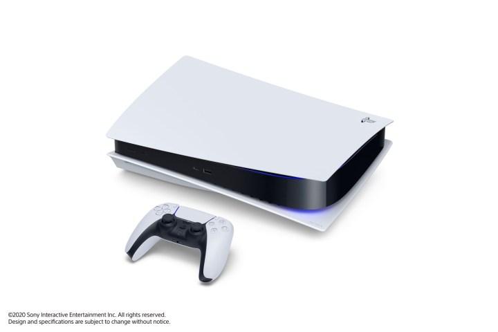 PS5 avec lecteur Blu Ray couchée