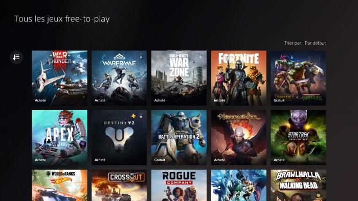 Les jeux en Free To Play sont légion sur PS5 !