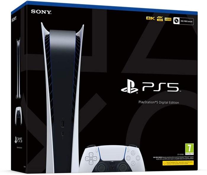 J'adore le Packaging de la PS5 Digital Edition !