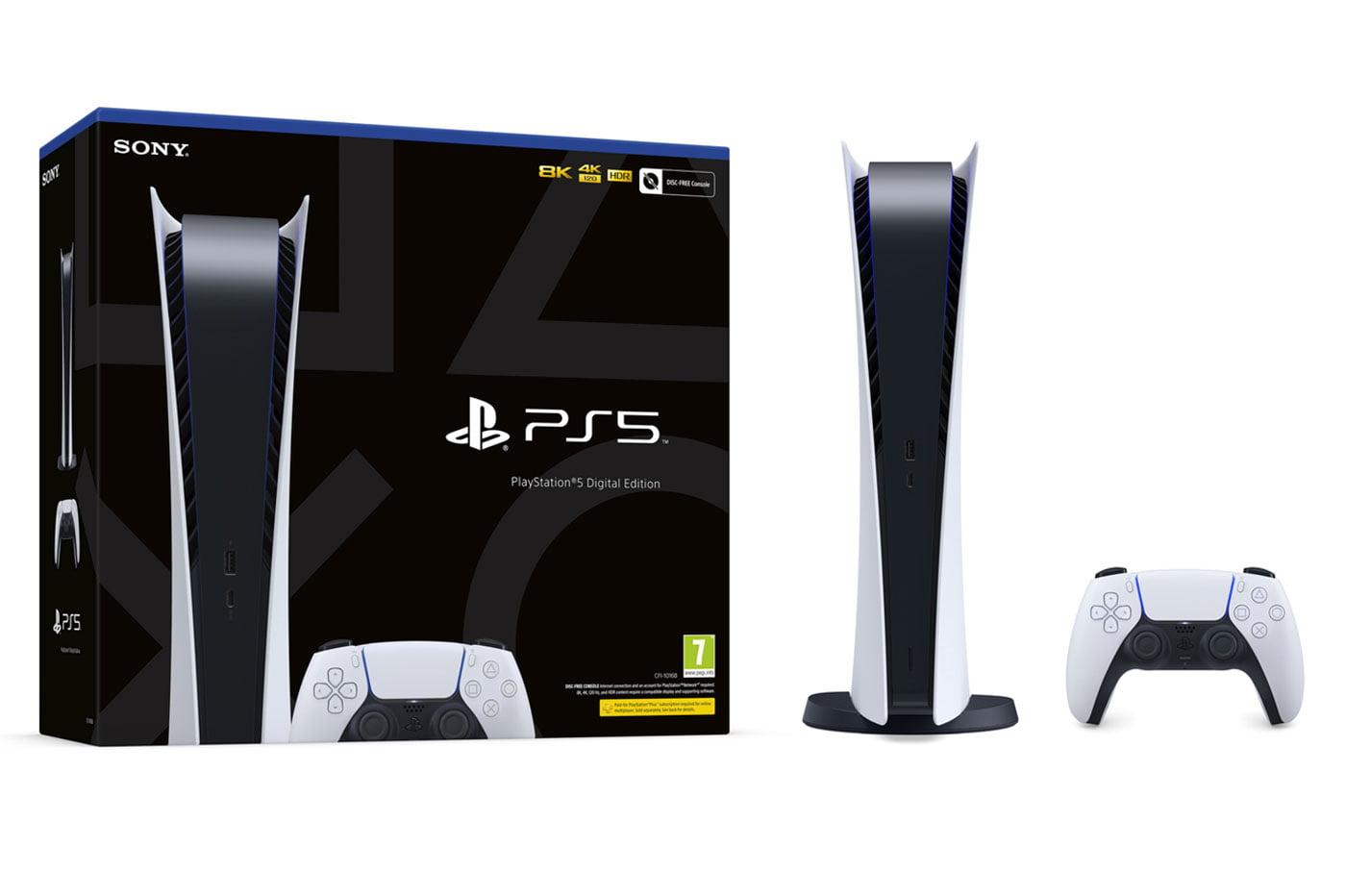 La PS5 Digital Edition en stock