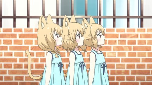 The Mitama triplets from Centaur no Nayami (Centaur's Worries)