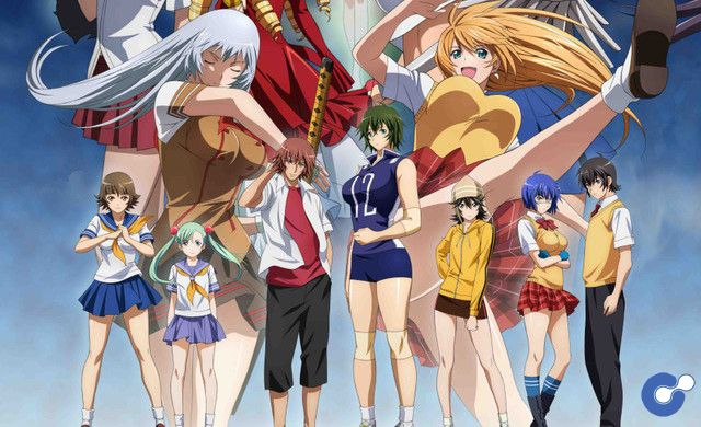 Anime Ikki Tousen Western Wolves tung visual mới