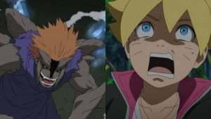 Jugo, thuộc hạ của Orochimaru tái xuất, hóa thành quái vật và muốn giết Boruto