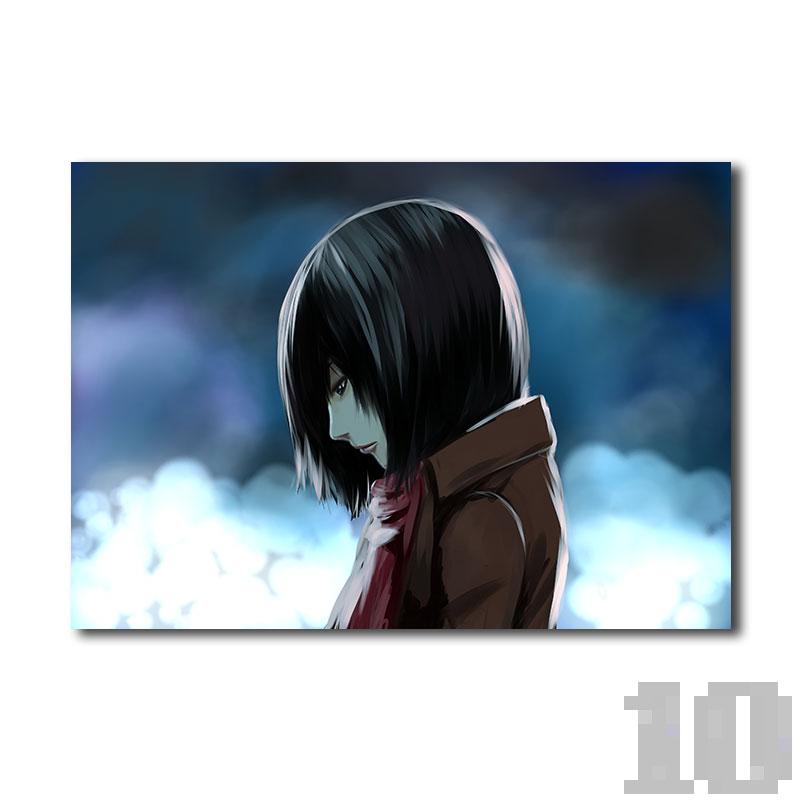 Poster attaque des titans la solitude de Mikasa