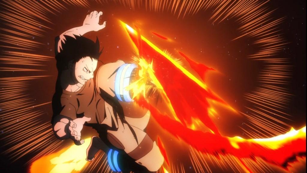 Shinra deflecting Arrow's arrow