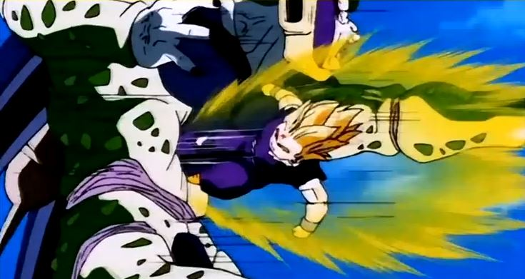 Gohan damages Cell