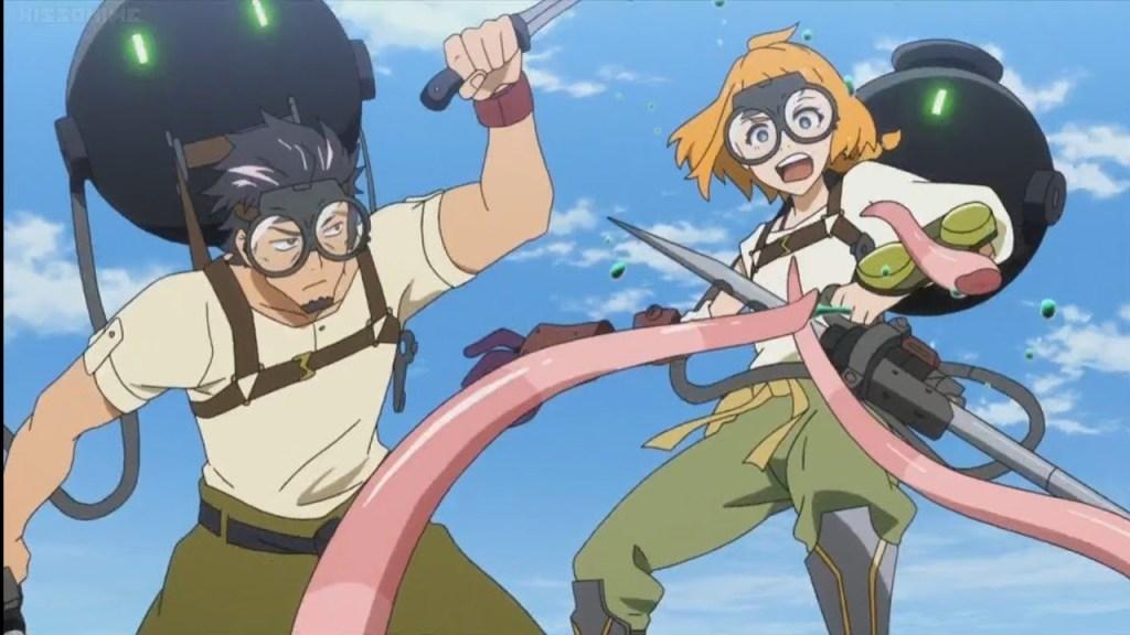 Natsumi struggles to master battling Gadoll in Deca-Dence Episode 3
