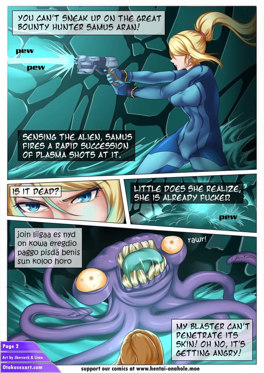 Alien Tentacle Porn Cartoon Comic nintendo porn comic: samus aran's alien impregnation