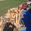 【機械で薪割り】ひたすら薪割りを進めております。オッサン頑張ってます!
