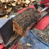【薪割り】大量にたまった玉を割る