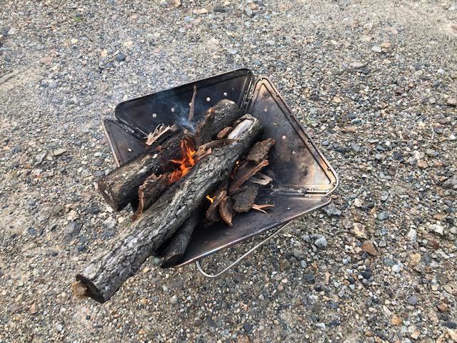 【焚き火のついでに】初めて燻製をやってみた。