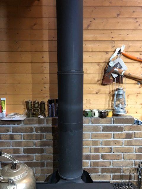 【冬支度】薪ストーブの煙突掃除をする