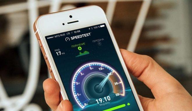 Измерение скорость интернета на speedtest.net