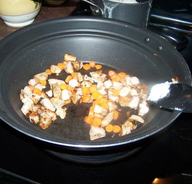 pork fried rice - step 2