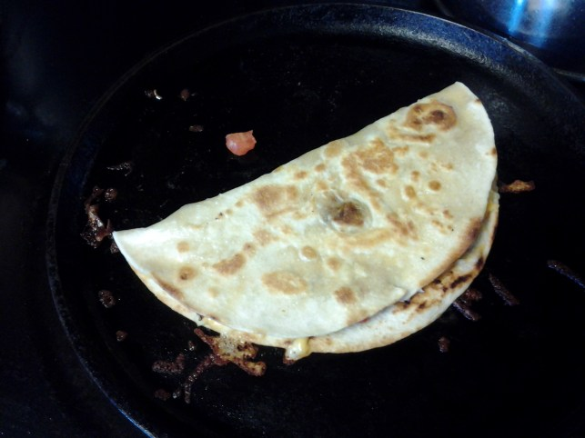quesadillas cooking