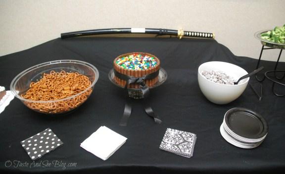 black belt party food