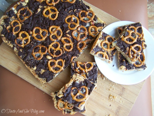 Chocolate Pretzel Cookie Bars 013a