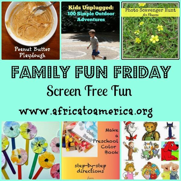 screen free family fun