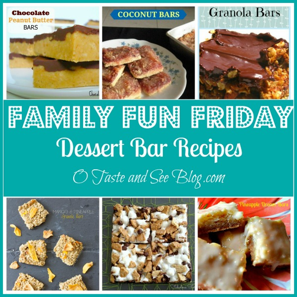 dessert bar recipes family fun friday