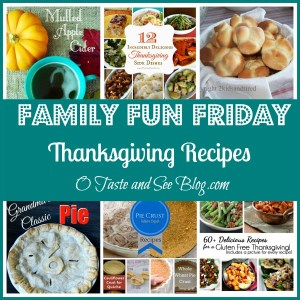 Thanksgiving recipes Family Fun Friday