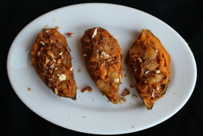 apple stuffed sweet potatoes