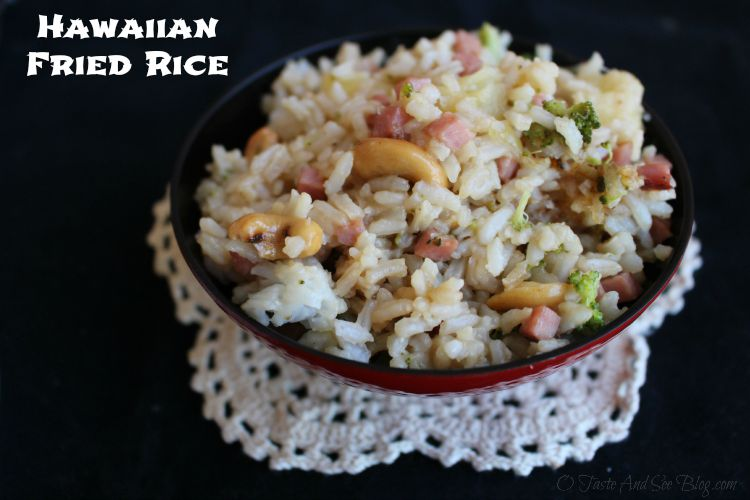 Hawaiian Fried Rice #SmithfieldHambassador AD
