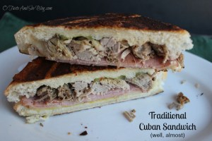 Almost traditional cuban sandwich
