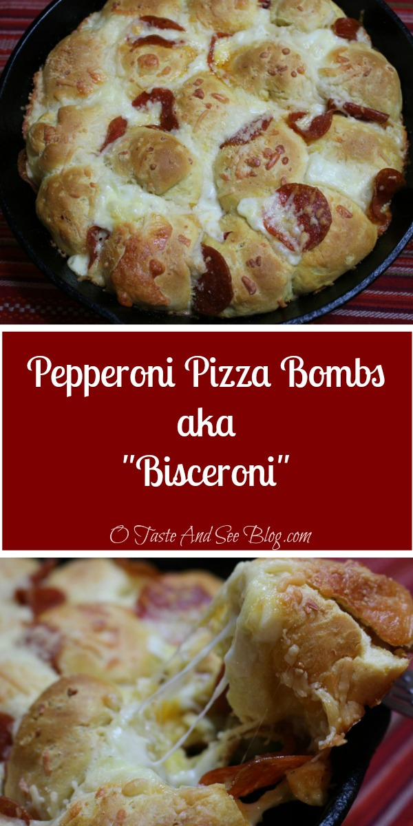 Bisceroni aka Pepperoni Pizza Bombs