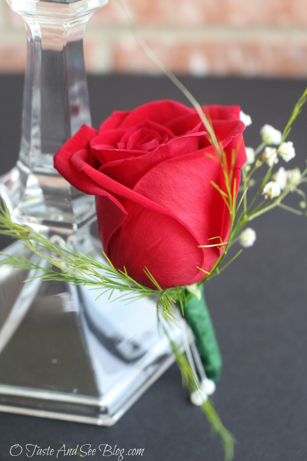 Single Rose Boutonniere #ad