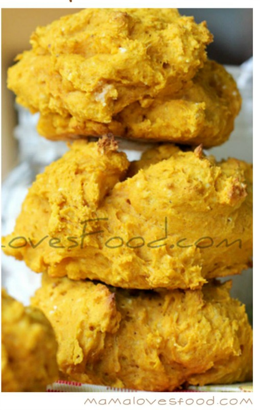 simple pumpkin drop biscuits