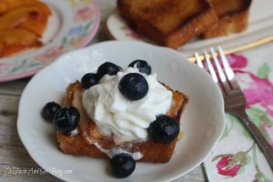 Grilled Pound Cake and Peaches