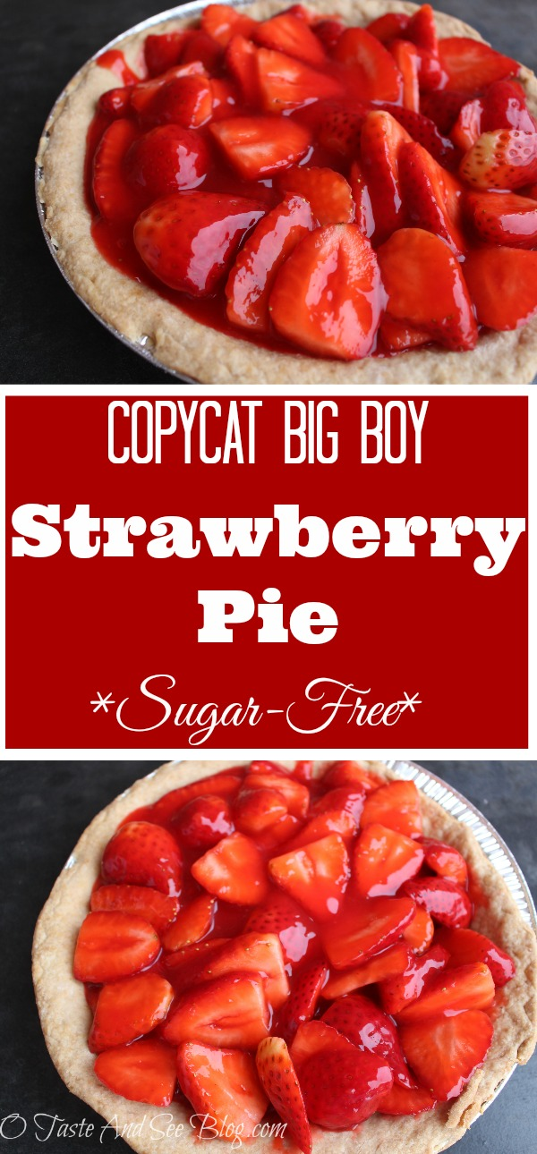 Sugar Free Strawberry Pie