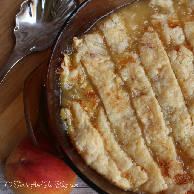 Grandma's Old Fashion Peach Cobbler