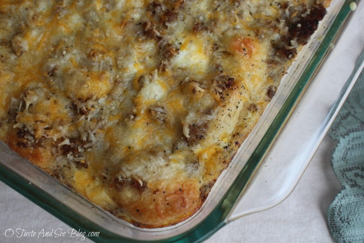 Sausage Egg and Biscuit Casserole