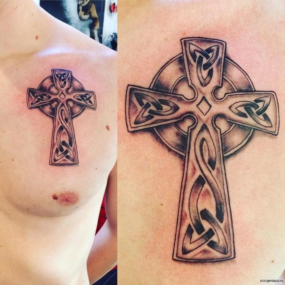 кельтский крест тату на груди у парня добавлено иван вишневский
