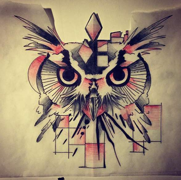 Tato Burung Hantu Di Leher Tato Burung Hantu Artinya
